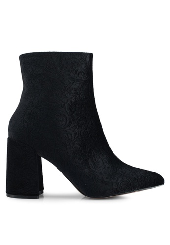 Public Desire black Alpha Mid Height Heel Ankle Boots 6140CSH154891EGS_1