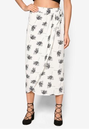 Sesprit 鞋tencil 印花裹飾鉛筆裙, 服飾, 裙子
