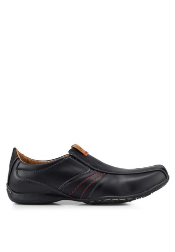 Louis Cuppers black Faux Leather Shoes 495EFSH2B9A716GS_1