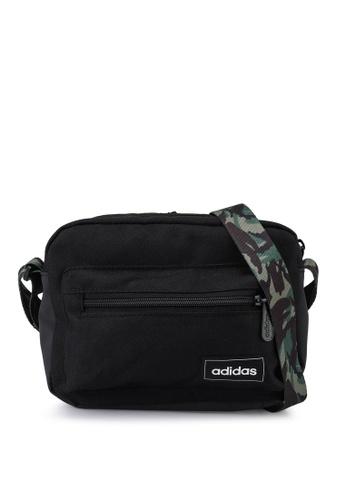ADIDAS black classic camo organizer sling bag CDE62AC1B1C87FGS_1