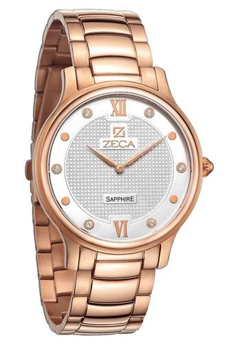 ZECA silver and gold Zeca Watches Couple Men Fashion - 307M Rosegold ZE260AC90SKRSG_1