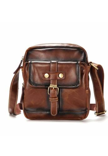 Lara brown Plain Belt Buckle Cross Body Bag - Brown 8F555AC4690127GS_1