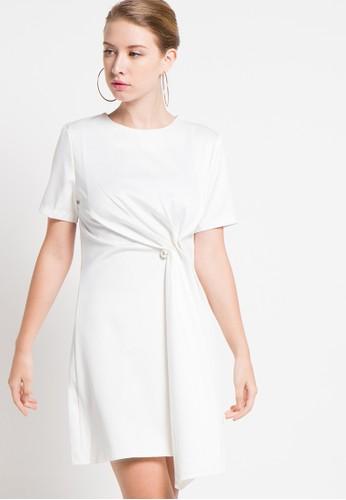 Raspberry white Shiren Shift Midi Dress RA572AA60QXZID_1