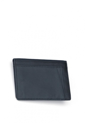 Kings Collection black Grained Leather Card Holder 4CEC3AC585AE0EGS_1