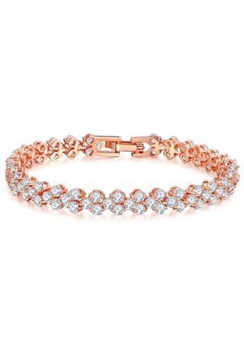 YOUNIQ silver YOUNIQ Dazzling 18K Rosegold Plated Silver Bracelet YO999AC0S96RMY_1