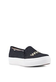 3aa7805474296 Keds Triple Decker Embroidery Slip Ons S  89.00. Sizes 5 6 7 8 9