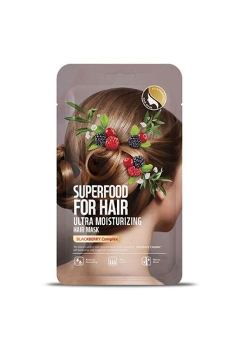 FARMSKIN Farmskin Hair Mask Set Ultra Moisturizing Superfood For Hair (Blackberry) (3Pcs/Set) CF96FBE6266217GS_1