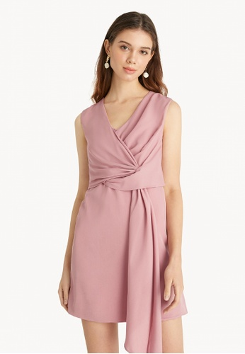 Pomelo pink Tie Front Mini Dress - Pink 5062EAAFFD5A27GS_1