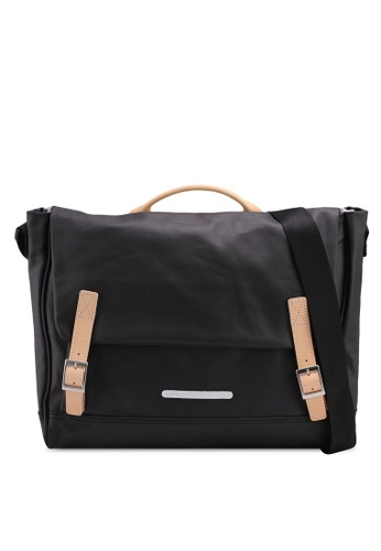 Rawrow black Rugged Canvas 312 R Crossbody Bag 3BC1AACB068A6BGS_1