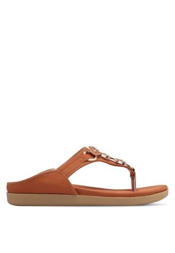 Spiffy brown Floral Strap Sandals SP352SH0SRXPMY_1