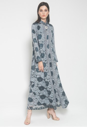 Kasa Heritage blue and grey Artura Dress - Grey Blue DAE3CAA93A80A9GS_1