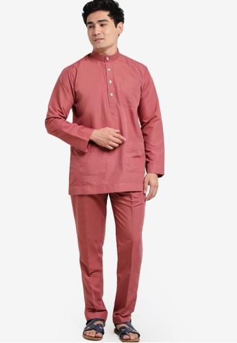 Amar Amran pink Modern Cotton Baju Melayu AM362AA91JWIMY_1