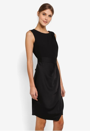CLOSET black Draped 2-In-1 Pencil Dress CL919AA0SIKNMY_1