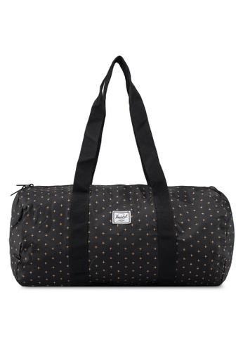 Herschel black and gold Packable Duffle Bag C2C11AC26DA041GS_1