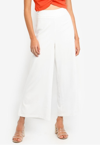 Glamorous white Slit Wide Leg Pants 5FEC2AADF3ED36GS_1