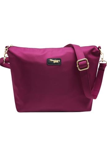 STRAWBERRY QUEEN purple Flamingo Sling Bag (Nylon J, Magenta) D0B7DAC101CF98GS_1