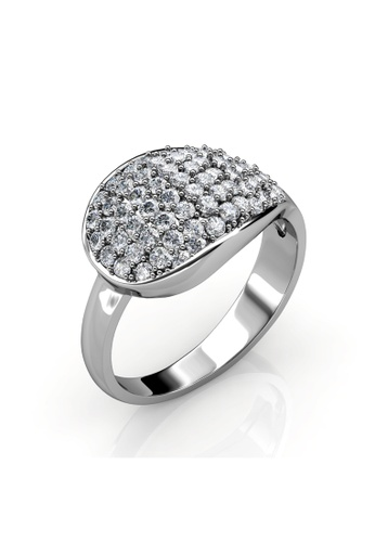 Her Jewellery silver Swarovski® Crystals - Sophie Ring (White Gold)(18K White Gold Plated) Her Jewellery HE581AC0RAESMY_1