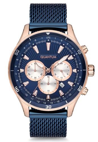 Quantum blue and gold Casual Men's Watches QTM ADG657.490 4D453AC442AEC1GS_1