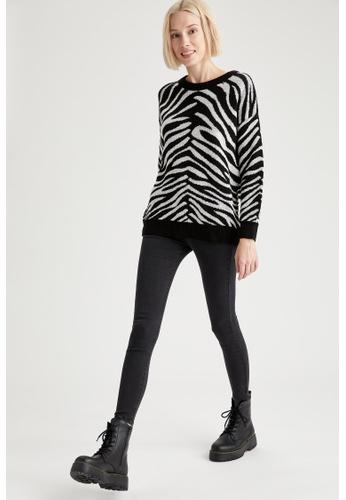 DeFacto grey High Waist Super Skinny Jeans 08BD6AAE54C830GS_1