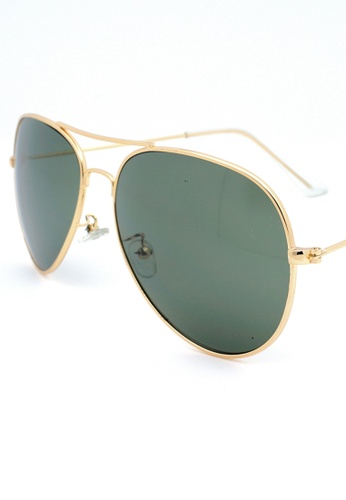 b4b1c494a0 Buy Elitrend Unisex Metal Pilot Sunglasses In Green Online on ZALORA  Singapore