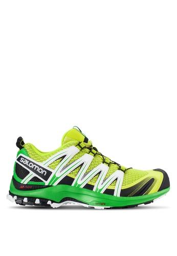 Salomon green Xa Pro 3D Shoes SA438SH38WCRMY_1