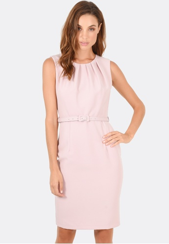 FORCAST pink Emery Pleat Neck Dress 37F06AAD0CD163GS_1