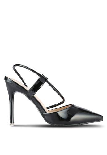 Something Borrowed black Metallic Pointed Heels 49AB4SHC2DBDFAGS_1