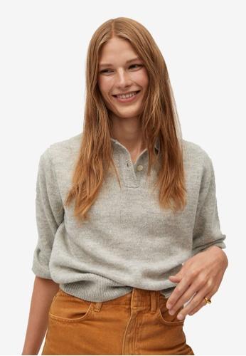 Mango grey Polo Style Sweater 6527CAA5ED0B63GS_1