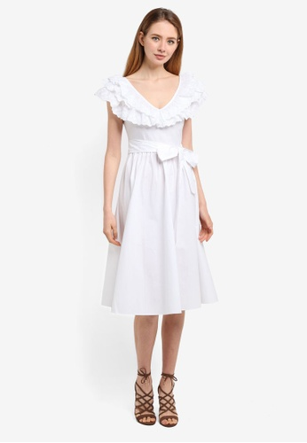 e3bd1ea60a3e Shop LOST INK Broderie Fit And Flare Dress Online on ZALORA Philippines