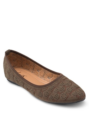 刺繡esprit holdings limited平底鞋, 女鞋, 鞋