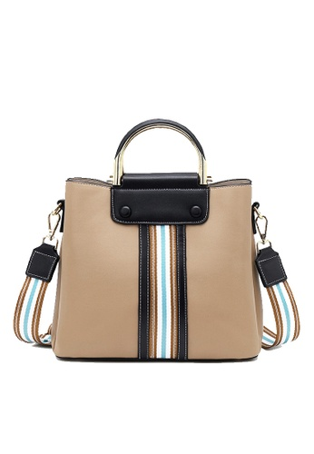 Twenty Eight Shoes beige VANSA Color Matching Cow Leather Hand Bag VBW-Hb2262 729AEAC9CE77BCGS_1