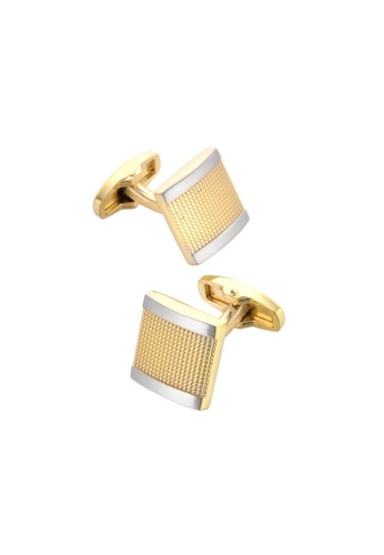 Kings Collection gold Golden French Men's Business Cufflinks KC10029a 8BA42ACDAF9A8CGS_1