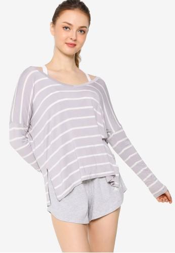 Lorna Jane grey Maddie Long Sleeve Top D8582AA4EB4A02GS_1