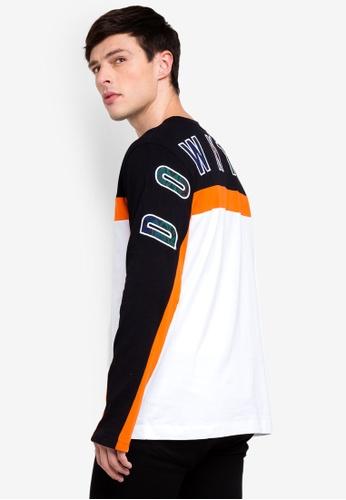 Topman 黑色 撞色T恤 9872CAA1C79FF4GS_1