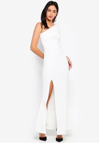 d23783e9ff2 Shop MISSGUIDED One Shoulder Maxi Dress Online on ZALORA Philippines