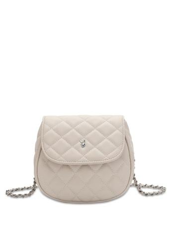 PLAYBOY BUNNY beige Women's Sling Bag / Shoulder Bag / Crossbody Bag 42BA2AC56B6E46GS_1