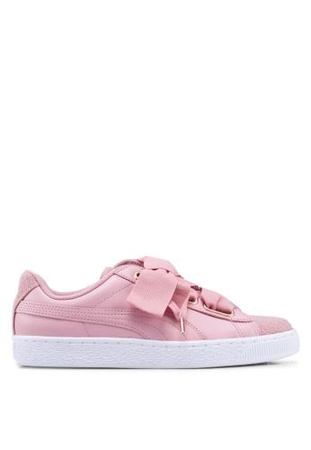 pretty nice a5631 5276f Basket Heart Woven Rose Women's Sneakers