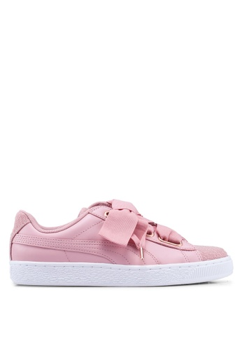 pretty nice e05d1 a8f47 Basket Heart Woven Rose Women's Sneakers