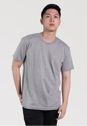 CROWN grey Men's Round Neck Tshirt 562ABAAF1F4F60GS_1