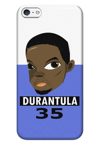 Wonder Cover black and white and brown and blue Durantula Matte Hard Case for iPhone 5, 5s WO617AC66ZINPH_1