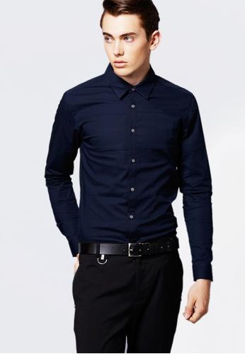 Life8 blue Formal Long-Sleeved Shirts-11122-Blue LI283AA0FFOWSG_1