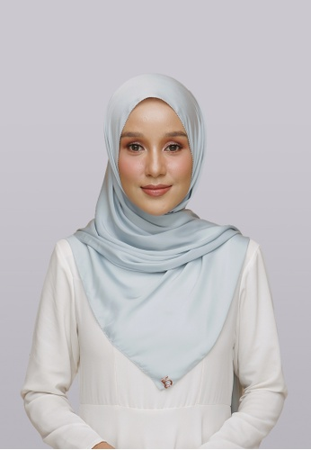 Lady Qomash blue Batcha Eyelash Shawl in Diamond ABE39AA817EC38GS_1