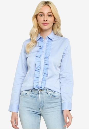 Sacoor Brothers blue Women's Classic Slim Fit Shirt A2BA9AA7963D69GS_1