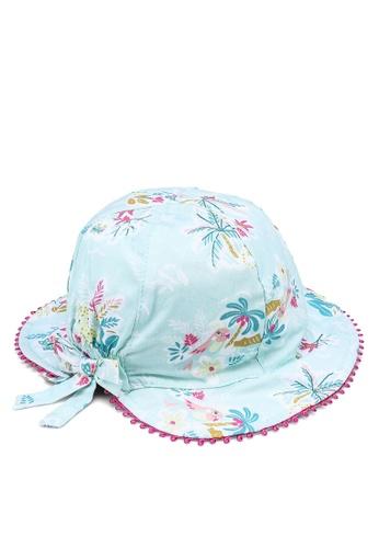 Du Pareil Au Même (DPAM) blue Girl's Ribbon Hat 05252KC89F1241GS_1