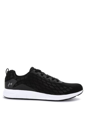 Jump black Jersey Sneakers 4154BSHCDFD2EEGS_1