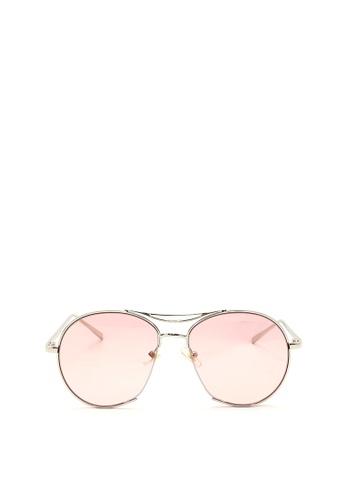 Kaca-kaca pink and silver Kaca Kaca Gene Junior Pink Sunglasses KA666AC0RISPMY_1