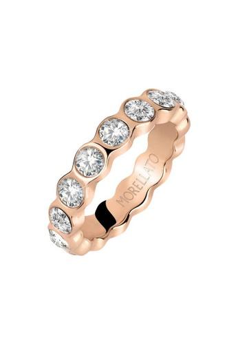 Morellato gold Cerchi Ring SAKM39012 Steel Pvd Rose Gold Crystals 3ACA4ACB441594GS_1