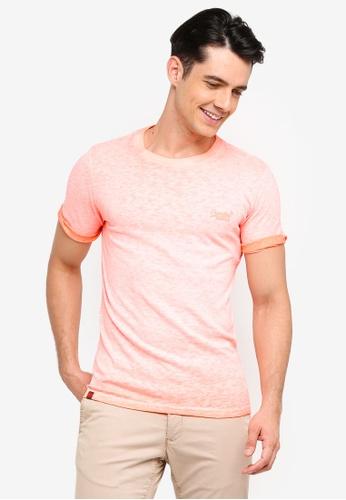 Superdry 橘色 反摺袖T恤 A1CC6AAFAE96DBGS_1