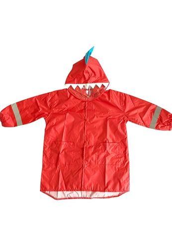 Twenty Eight Shoes red VANSA  Stylish Dinosaur Raincoat VCK-R1 8B21AKA1E12D6BGS_1