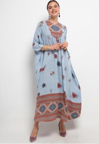 Kamilaa by Itang Yunasz blue Kaftan Modern 2DE6BAA8D988DBGS_1